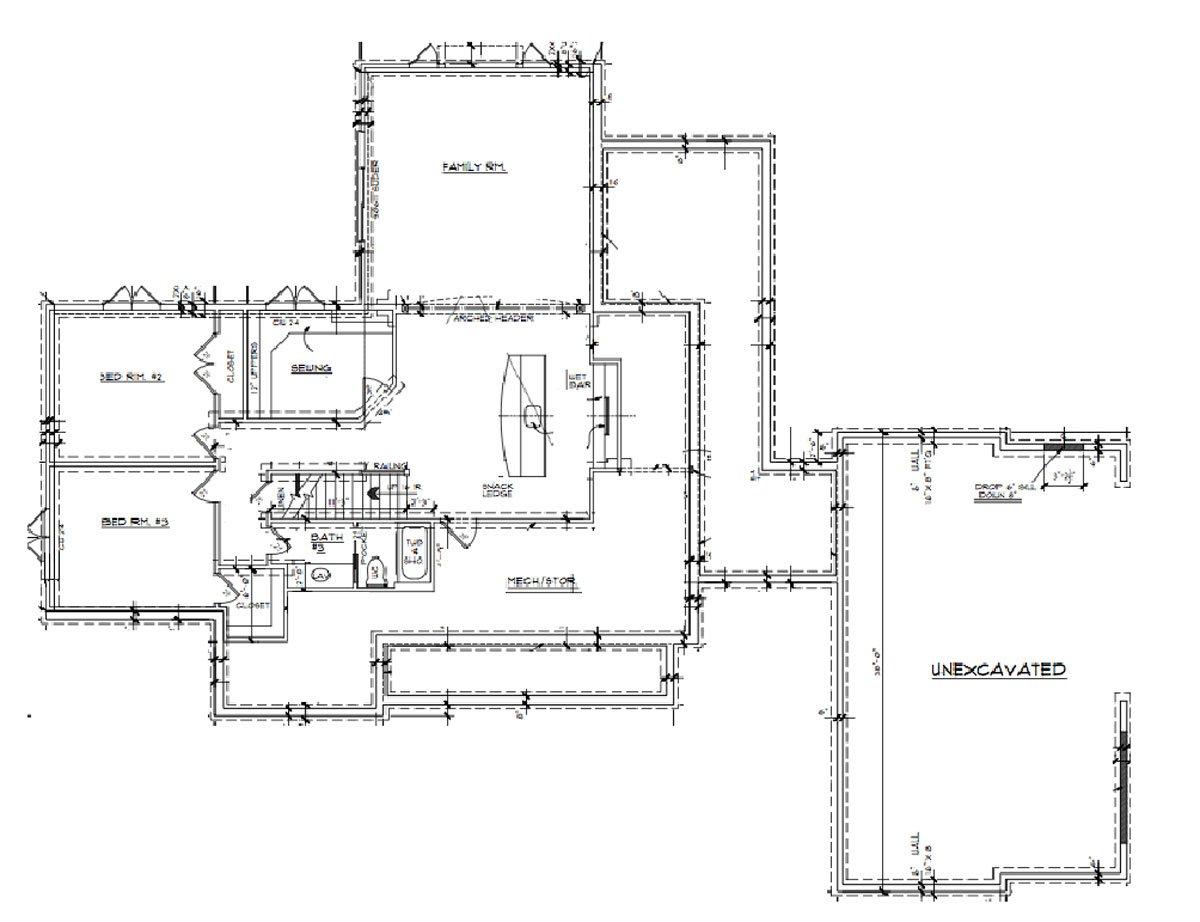 Daeco Builders Available Home Plans: Urban Farmhouse Basement Floor Plan
