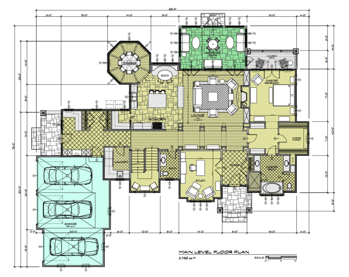 Daeco Builders Available Home Plans: Craftsman Main Level Floor Plan