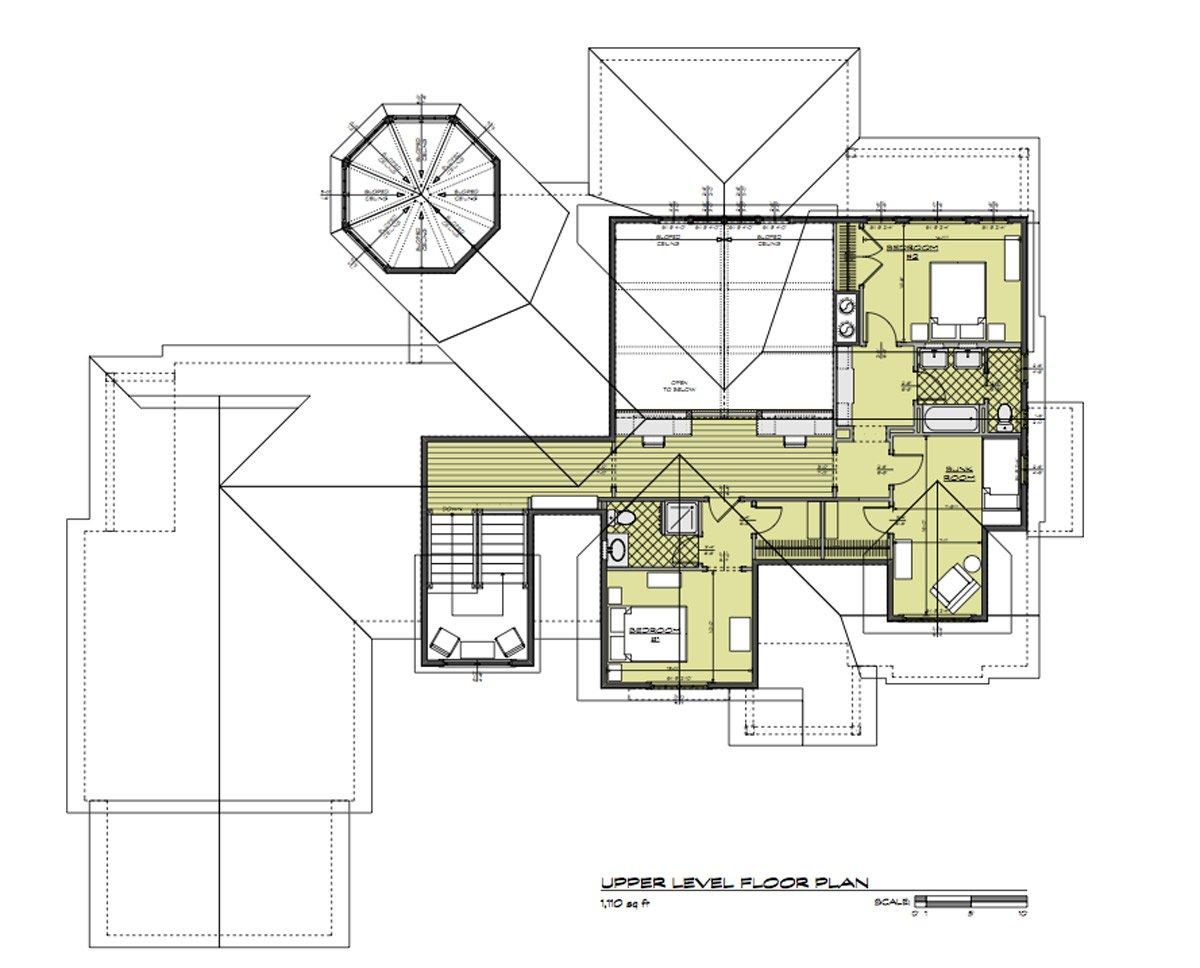 Daeco Builders Available Home Plans: Craftsman Upper Level Floor Plan